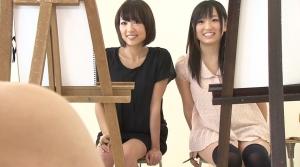 女子大美術部の美人2人